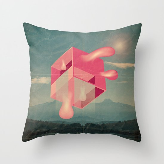 bucolico cubolo Throw Pillow