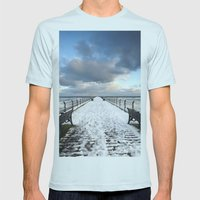 Saltburn by the Sea Mens Fitted Tee Light Blue SMALL