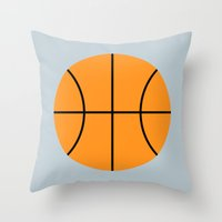 #9 Basketball Throw Pillow