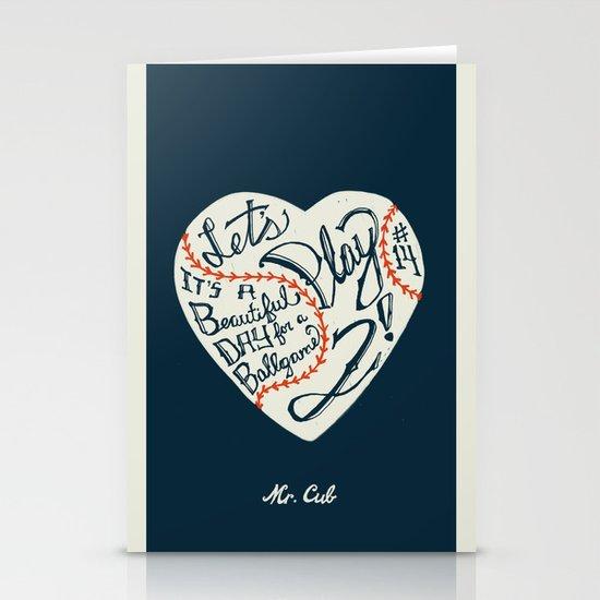 Mr. Cub Stationery Card