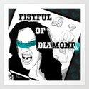FISTFUL OF DIAMONDS Art Print