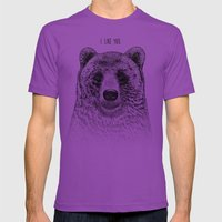 I Like You (Bear) Mens Fitted Tee Ultraviolet SMALL