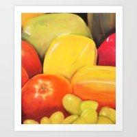 Fruit - Pastel Illustrat… Art Print
