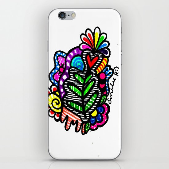 Rainbow Doodle iPhone & iPod Skin