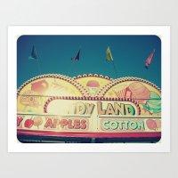 CandyLand ~ Vintage-feel… Art Print