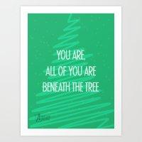 Beneath the tree Art Print
