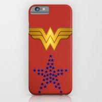 iPhone Cases featuring WonderWoman by Ugur Diker