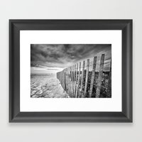 Ocean City Sand Dune Fen… Framed Art Print