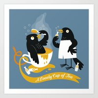 A Lovely Cup of Tea Art Print