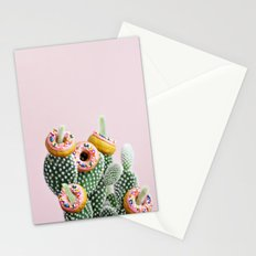 Donut Cactus In Bloom Stationery Cards