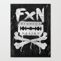 Fiction Design Canvas Print