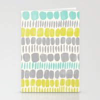 Citron Gray Stones Stationery Cards