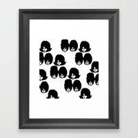 Bouffant Girls II Framed Art Print
