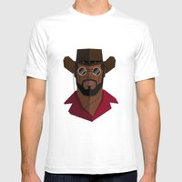 Django Unchained Mens Fitted Tee White SMALL
