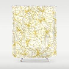 Golden Doodle floral Shower Curtain