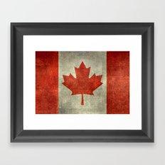 The National Flag Of Can… Framed Art Print