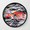 Fish on Fur IV Wall Clock