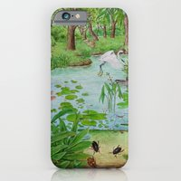 iPhone & iPod Case featuring A Day of Forest (4). (the lake ecosystem) by Amy Fan