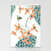spots, leaves and bees Stationery Cards