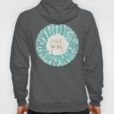 Treat Yo Self – Gold & Turquoise Hoody