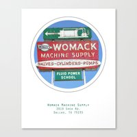 Womack Machine Supply Poster Canvas Print