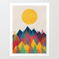 sun Art Prints featuring Uphill Battle by Picomodi