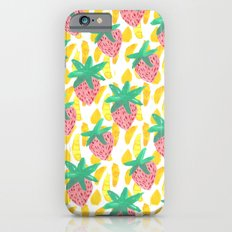 Pink Strawberries Slim Case iPhone 6s