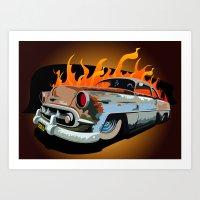 Caddy Rat Rod Art Print