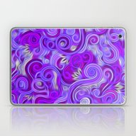 Laptop & iPad Skin featuring Lavender Swirls Abstract by Kirsten Star