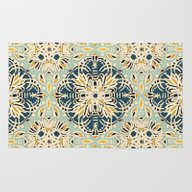 Protea Pattern In Deep T… Rug