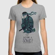 do me a solid. Womens Fitted Tee Athletic Grey SMALL