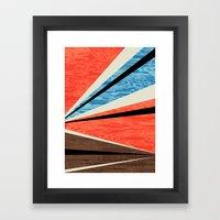 Graphic Woodgrain Framed Art Print