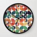 Vintage Fall Pattern Wall Clock