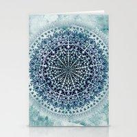 BLUE ICELAND MANDALA Stationery Cards