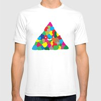 happy colour triangle Mens Fitted Tee White SMALL