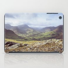 View of mountains on a sunny day. Cumbria, UK. (Shot on film). iPad Case