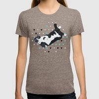 Tuxedo Cat Womens Fitted Tee Tri-Coffee SMALL
