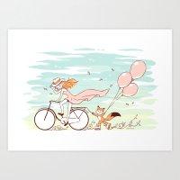 Spring Ride Art Print