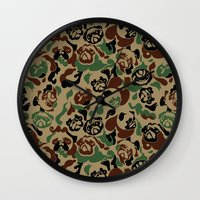 Pug Camouflage Wall Clock