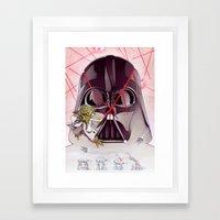 Yoda Slice Framed Art Print