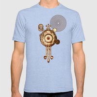 Hypnotism Mens Fitted Tee Tri-Blue SMALL