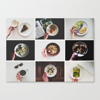 Canvas Print featuring Morning stories - HANDS set by Lucia Jesenská