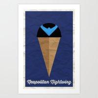 Neapolitan Nightwing Art Print
