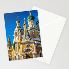 Russian Orthodox Cathedral, Nice France Stationery Cards