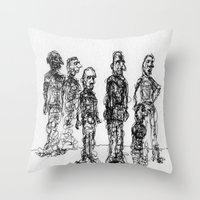 The Send-Off Throw Pillow
