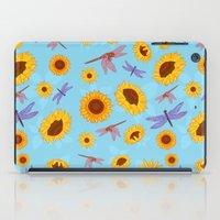 Sunflowers & Dragonflies iPad Case