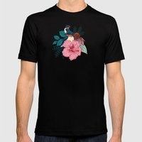 Barn Swallows Mens Fitted Tee Black SMALL