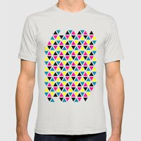 CMYK II Mens Fitted Tee Silver SMALL