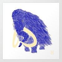 Mammoth Art Print