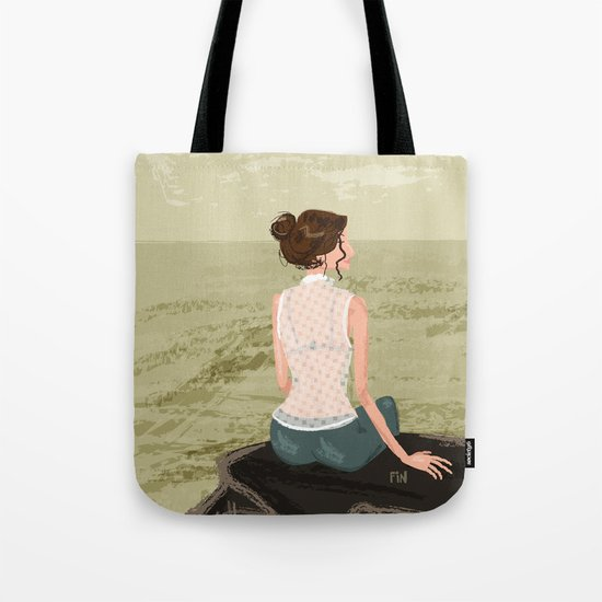 Girl by the Sea Tote Bag